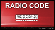 Radio Code geeignet für Sony MEX-100NV (BE4720 Traffic Pro)