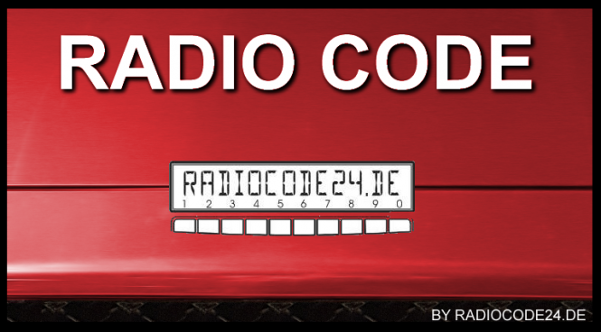 Radio Code geeignet für Visteon Ford 6000 CD Single CD - KW2000 - 8M5T-18C815-AB