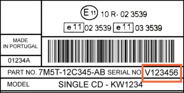 FORD Sony CD345 MCA