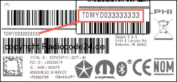 Unlock Auto Radio Code Delphi Chrysler