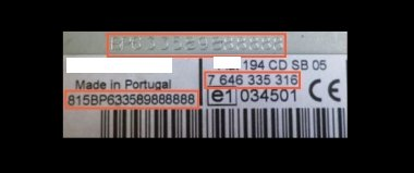Bosch CM8572 Fiat 500 / FIAT 312 MP3 7 648 572 316 - 735 516 141 0 - 7648572316