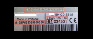 Unlock Auto Radio Code Blaupunkt BP1491 FIAT BLAUPUNKT MULTIPLA/FIAT 186 NAV 7 612 002 400