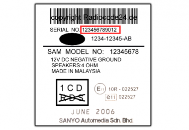 Unlock Auto Radio Code Ford Sanyo