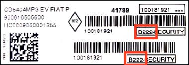 Unlock Auto Radio Code Fiat M Serial