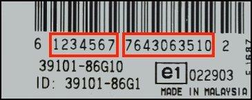 Unlock Auto Radio Code Suzuki BOSCH MAGYAR SUZUKI IGNIS RADIO-CD 7 643 063 510 - 39101-86G10