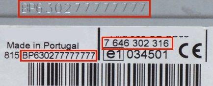 Unlock Auto Radio Code Bosch CM0132 CALAIS USB80 12V EU 7 620 000 132 7620000132