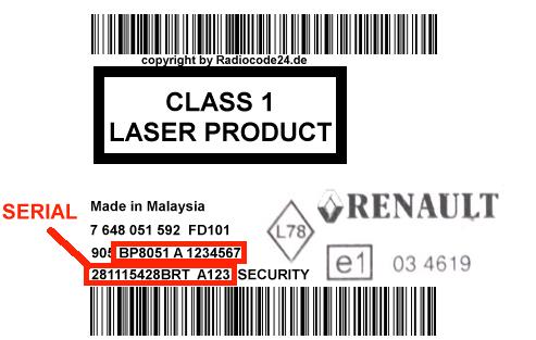 Unlock Auto Radio Code BLAUPUNKT BP8061 RENAULT R008 90 EUROPE MP3 A - 7 648 061 592 (281151362R)