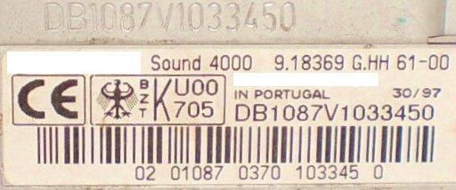 Radio Code GRUNDIG VW SOUND 5000 VWZ2Z9