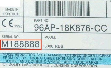 FORD 4500 RDS EON B3 SINGLE CD 2S61-18C815-AH