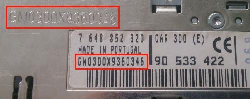 Unlock Auto Radio Code Blaupunkt Opel Car 300