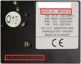 Unlock Auto Radio Code MF2910
