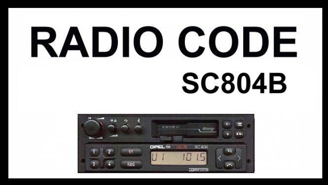 radio unlock code