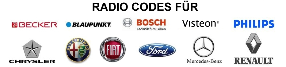 Becker Blaupunkt Ford Renault Radio Code Security Code Car Radio Code