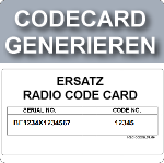 Ersatz Radiocodecard