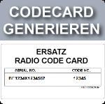 Ersatz Radiocodecard
